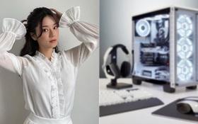 """Vừa """"đại náo"""" rank Liên Quân Mobile xong, Hoàng Yến Chibi bất ngờ khoe dàn PC mới cực chiến, lại sắp """"cày game"""" mới hay gì?"""