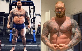 """""""Thần sấm"""" Thor Bjornsson lột xác ngoạn mục, giảm tới 50kg trước ngày lên võ đài """"xử"""" đối thủ"""