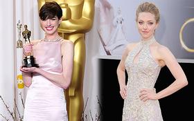 Drama váy vóc tại Oscar 2013 giữa Anne Hathaway và Amanda Seyfried: Người bị chê làm lố, người im lặng dửng dưng