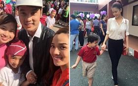 Hàng loạt sao Việt và nhóc tì nô nức trong ngày khai trường
