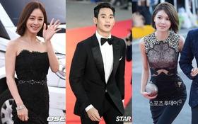 """Dàn sao """"khủng"""" xứ Hàn xúng xính váy áo tại thảm đỏ Korea Drama Awards 2015"""