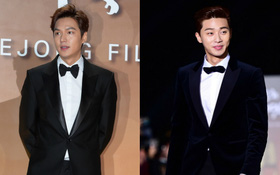 Park Seo Joon đọ vẻ điển trai cùng Lee Min Ho trên thảm đỏ Grand Bell Awards