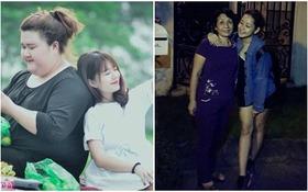 """Mẫn Tiên """"tí hon"""" bên cô bạn 100kg, Chi Pu khoe ảnh chụp cùng mẹ 20/11"""