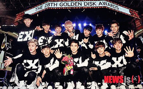 """EXO thống trị """"Grammy Hàn Quốc"""" đúng như dự đoán"""