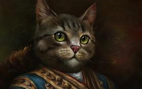 Tranh chân dung mèo trong trang phục hoàng gia