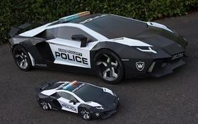 Mô hình Lamborghini Aventador như thật làm từ giấy và bìa cứng