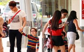 Trương Quỳnh Anh lần đầu xuất hiện cùng Tim và con trai tại sân bay