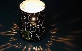 Nặn đất sét Nhật thành đèn trang trí sáng lung linh