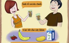Bồi bổ cho sức khỏe với sinh tố socola