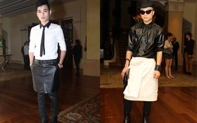 Nukan Trần & NTK Đỗ Mạnh Cường cùng diện váy đi dự fashion show