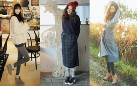 1001 cách mix từ cơ bản tới cá tính cùng legging dày ấm áp