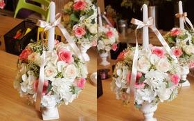 Cách cắm hoa với nến đơn giản mà lại sang