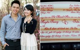 Miss Teen Huyền Trang đầu tháng 12 làm đám cưới với Triệu Hoàng