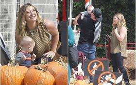 Hilary Duff đưa con trai đi chọn bí ngô Halloween