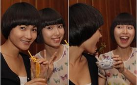 Thùy Dương, Thùy Trang bón đồ ăn cho nhau