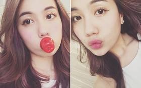"""Hot girl Mie cũng thử nghiệm trào lưu """"bơm môi"""" kiểu Kylie Jenner"""