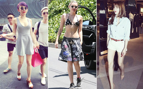 Street style sao tuần qua: Miley diện cả bikini ra phố