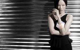 Tuyết Lan làm mẫu cho bộ ảnh quảng bá của thương hiệu nước ngoài
