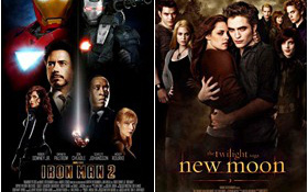 """New Moon"" đối đầu ""Iron Man 2"" tại Teen Choice Awards"