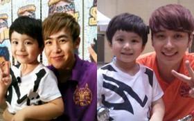 """Nichkhun và Chansung chụp ảnh với """"thiên thần nhí"""" Mason"""