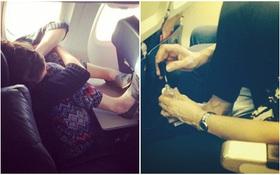 """Những hình ảnh """"khó đỡ"""" trên các chuyến bay khắp thế giới"""