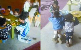 Trung Quốc: Trường mầm non bắt học sinh vừa quỳ gối vừa ăn trưa