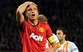 Man United mất Vidic trong 8 tuần
