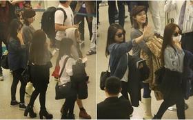 T-ara vẫn đi cửa thường, vẫy tay chào khán giả Việt để trở về Hàn Quốc
