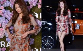 Sợ hớ hênh, Sooyoung (SNSD) liên tục cân chỉnh trang phục