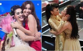 """Những cái ôm """"mang nhiều ý nghĩa"""" của showbiz Việt"""