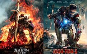 "Poster ""Transformers: Age of Extinction"" bị tố nhái ""Iron Man 3"""