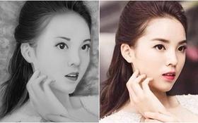 Hoa hậu Kỳ Duyên đẹp sắc sảo qua tranh truyền thần của teen 9x