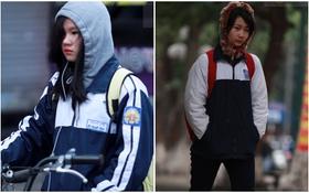 Chùm ảnh: Học sinh Hà Nội đi học dưới trời rét 7 độ C