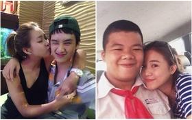 """Khả Ngân ôm hôn """"trai lạ"""", Sa Lim khoe em trai dễ thương"""