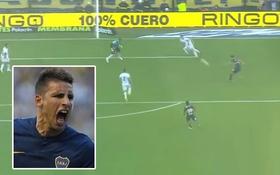 Ngất ngây với pha ghi bàn kiểu rabona của đồng đội Carlos Tevez