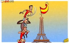 Vidic gọt đầu theo Balotelli, TBN treo cờ trên nóc tháp Eiffel