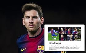 """Lionel Messi bị gọi là """"thằng rẻ rách, ăn bám đồng đội"""" trên trang Google Việt Nam"""