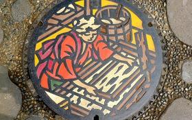 Những chiếc nắp cống đầy chất nghệ thuật trên đường phố Nhật Bản