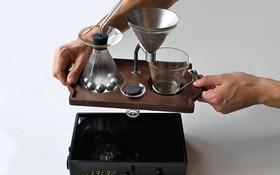 Đồng hồ báo thức kiêm máy pha cà phê độc đáo