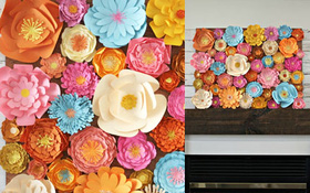 Trang trí nhà với bức tranh hoa giấy rực rỡ