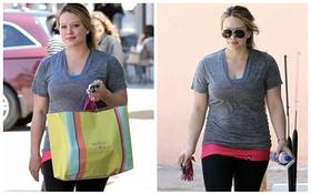 """Hilary Duff lộ dáng """"phì nhiêu"""" ngoại cỡ"""