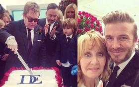 Loạt sao nô nức dự đám cưới của danh ca đồng tính Elton John