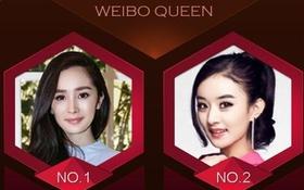 """Top 10 """"nữ hoàng"""" được quan tâm nhất mạng xã hội Trung Quốc"""