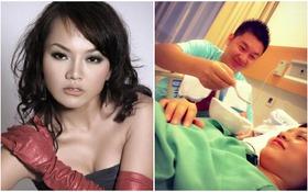 Thái Thùy Linh vừa sinh con trai cùng chồng mới