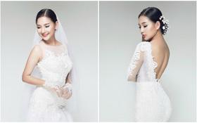Ngắm trọn vẹn bộ ảnh làm mẫu áo cưới của Kiều Oanh