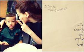 Hồ Ngọc Hà cảm động khi được con trai vẽ thiệp tặng