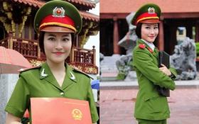 Nữ thủ khoa xinh đẹp phá vỡ kỷ lục thăng hàm của Học viện Cảnh sát