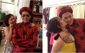 Khánh Linh quấn quít bên chồng đi thử đồ cưới lần 2