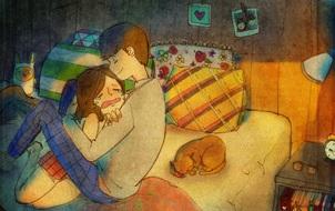 Yêu nhau đôi khi chỉ là làm những việc chẳng liên quan trong lúc ở bên nhau, miễn là cả hai đều vui vẻ