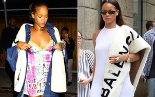 Rihanna đã đạt đến cảnh giới mới: mặc đồ lông giữa mùa hè!